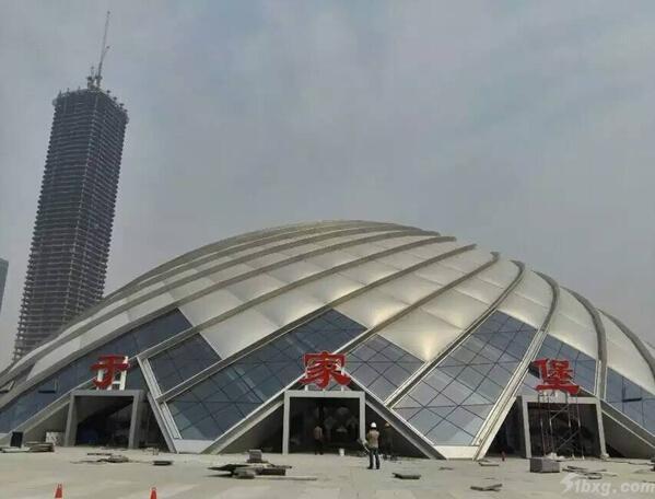 天津大明添彩于家堡火车站高清图片